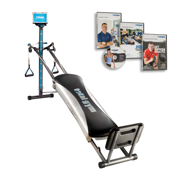 Total Gym Platinum Plus Whole Body Workout With 8 Attachments And 4 Dvds