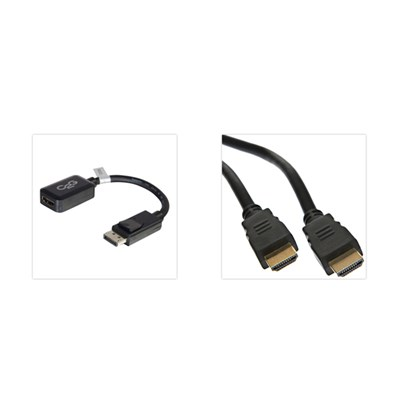 2m HDMI Cable plus display port adapter