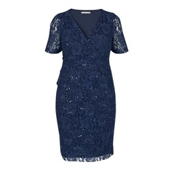 Ann Harvey Sequin Tiered Lace Dress