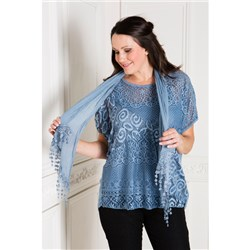Made in Italy Lace Top Set with Scarf
