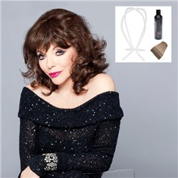 Samantha Wig by Joan Collins with Bonus Revitaliser and Wig Stand Plus Cap