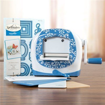 Spellbinders Sapphire Die Cutting and Embossing Machine - Includes 14 Introductory Dies