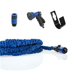 XHose XL 60 feet Long with Adaptor - 8 Speed Spray Nozzle and Spiggot Hook