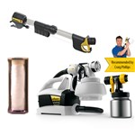 Wagner FLEXiO 687 WallPerfect Paint Spraying System with 2 Attachments - Handle Extension - Tape and Cover