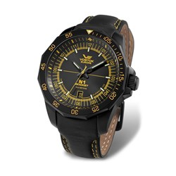 Vostok Europe Gents N1 Rocket Watch with Tritium Tubes and Genuine Leather Strap
