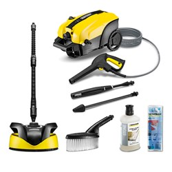 Karcher K4 Silent Home Pressure Washer with Accessories and 2 x Detergents