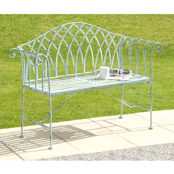 Gloucester White Cast Iron Bench (128cm) No Colour