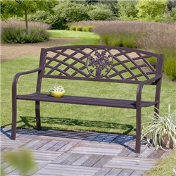 Cast Iron Floral Garden Bench