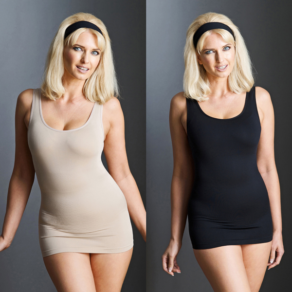 Bella Bodies Twin Pack Shaping Camyz Black/Sand