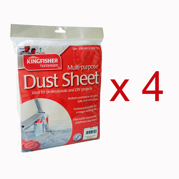 4 x Dust Sheets No Colour