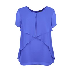 David Emanuel Waterfall Layered Blouse