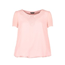 Bonmarche Swiss Dot Blouse With Guipure Trim