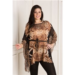 Kurt Muller Jewel Trim Kaftan with Belt
