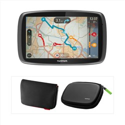 TomTom GO 600 EU M Sat Nav with 6 inch Screen - Interactive and 3D maps - Lifetime Traffic and Maps plus FREE 6 inch Carry Case