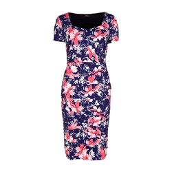 Bonmarche Floral Print Jersey Tiered Dress 41in