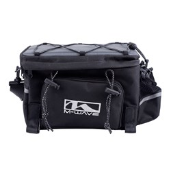 M Wave Expandable Trunk Bag with Expandable Side Bags and Bottle Holder