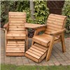 Charles Taylor Companion Set with FREE Pair of Footstools No Colour