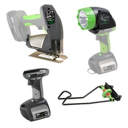 CEL POWER Quattro Tool Set  Includes 1 x Quick Release Jigsaw Head  Work Clamp  LED Torch and 1.5ah Power Handle