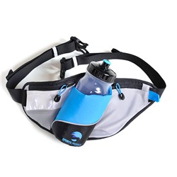 BungyPump Belt Bag with Water Bottle and Reflective Tape
