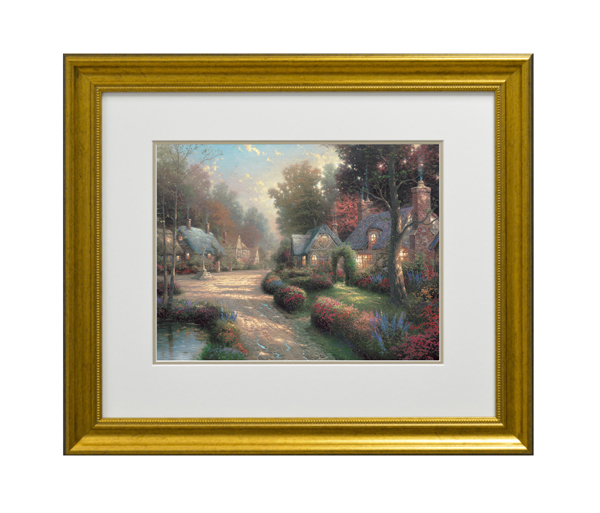 Thomas Kinkade Cobblestone Lane Open Edition Print Traditional
