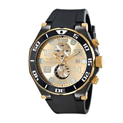 Invicta Gents Pro Diver Japanese Quartz Watch with Uni-directional Bezel and Polyurethane Strap