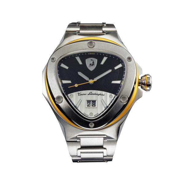 Tonino Lamborghini Spyder Watch with Stainless Steel Bracelet Strap Yellow