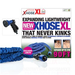XHose XL 90ft with Adapter and Spray Nozzle