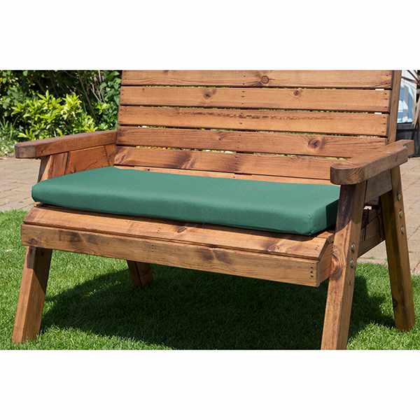 Charles Taylor Two Seater Bench Cushion Green