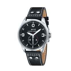 AVI-8 Gents Hawker Harrier II Japanese Quartz Watch with Genuine Leather Strap