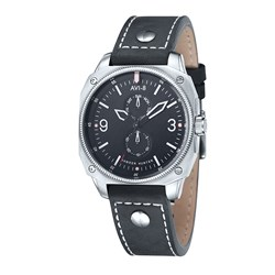 AVI-8 Gents Hawker Hunter Japanese Quartz Watch with Genuine Leather Strap