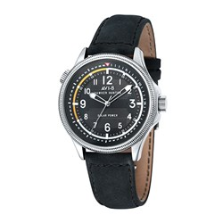 AVI-8 Gents Hawker Hunter Japanese Solar Power Reserve Movement Watch with Genuine Leather Strap