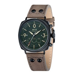 AVI-8 Gents Lancaster Bomber Japanese Quartz Chronograph Watch with Genuine Leather Strap