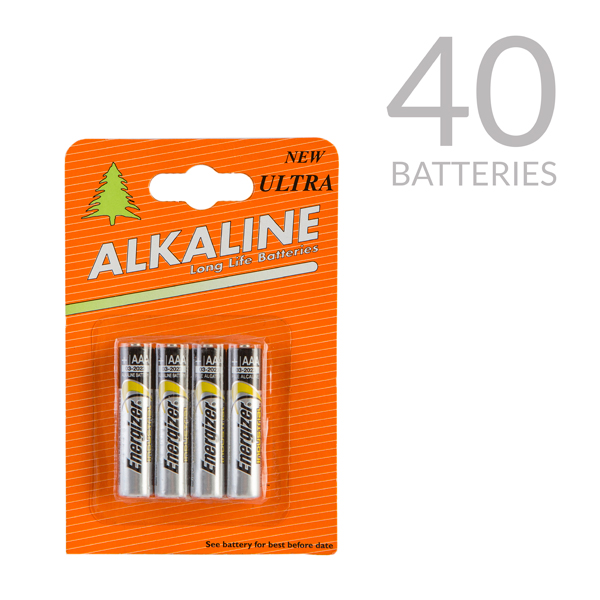 Pack of 40 Energizer AAA Batteries No Colour