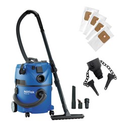 Nilfisk Wet and Dry 1400w Vac with Accessories