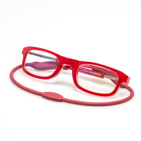 Loopies Reading Glasses Red