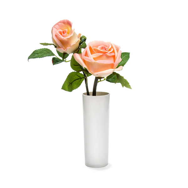 Blossom Collection Potted Rose Plant with 2 LED Lights - (Scented) Pink