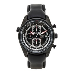 Aviator Gents Chronograph Watch with 24 Hour Indicator and Genuine Leather Strap