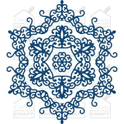 Tattered Lace Doily Snowflake Die