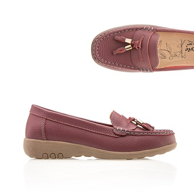 Cushion Walk Leather Toggle Loafer