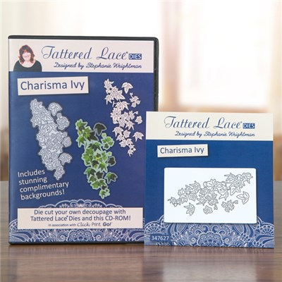 Tattered Lace Charisma Ivy Die with Click Print GO CD ROM Multibuy