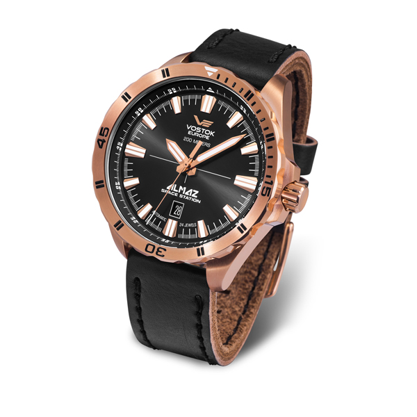 Image of Vostok Europe Gent's Automatic Almaz Watch with Genuine Leather Strap