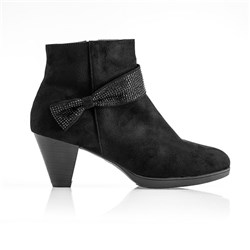 Cushion Walk Diamante Trim Ankle Boot