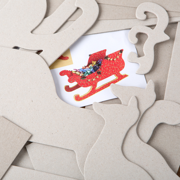 Pinflair 3D Sleigh and Reindeer Kit No Colour
