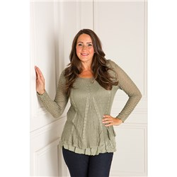Made in Italy Layered Long Sleeve Top
