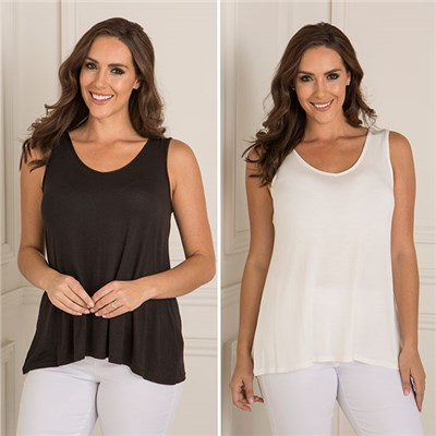 Two Pack Plain Viscose Cami
