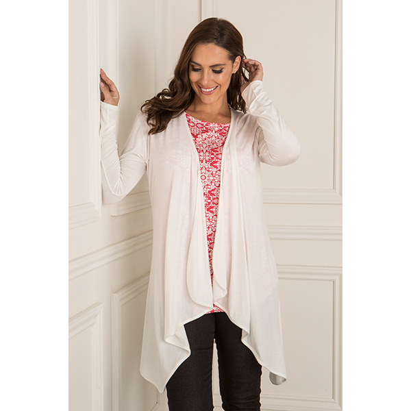 Nicole Waterfall Cardigan Ivory