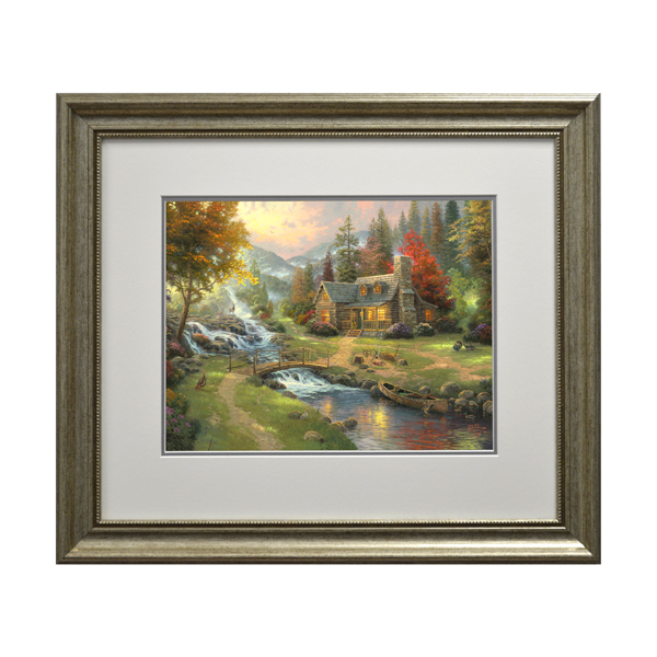 Thomas Kinkade Mountain Paradise Open Edition Print Traditional
