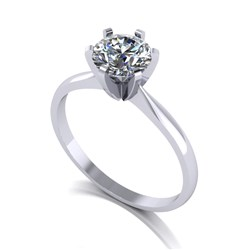Moissanite Platinum 1.00ct eq Finesse Solitaire ring
