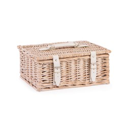 NEAT White Wash Storage Hamper 12 Inch