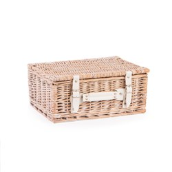 NEAT White Wash Storage Hamper 14 Inch